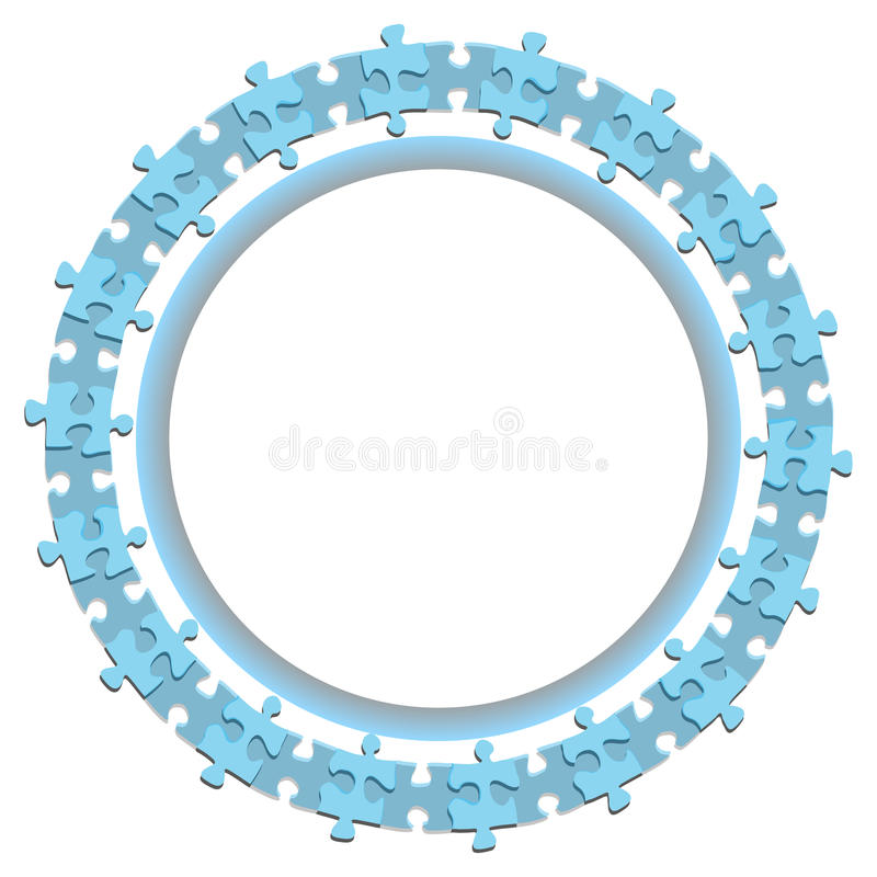 3d abstract jigsaw puzzle circle wheel business background royalty free illustration