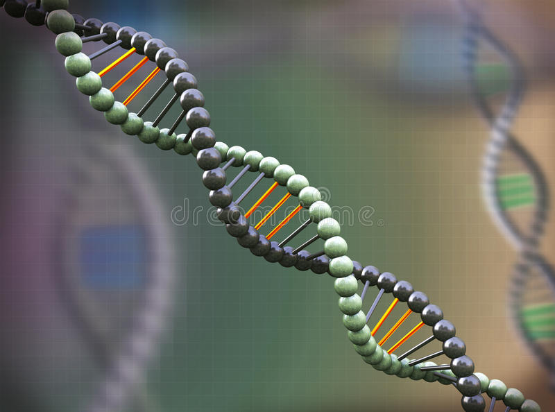 3d abstract molecular dna background royalty free illustration