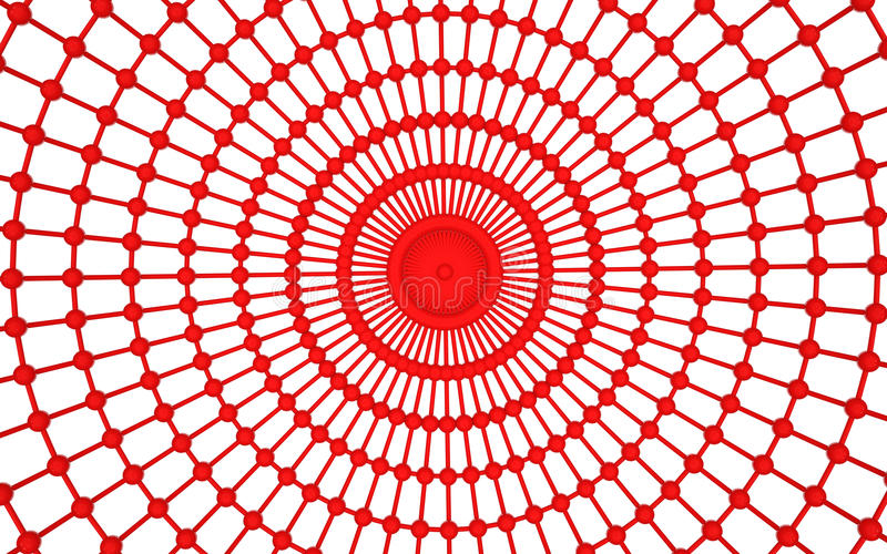 3d abstract red web structure. 3d render of abstract red web structure stock illustration