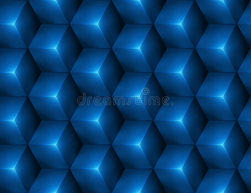 3d Abstract seamless background with blue cubes. Vector illustration in eps10 royalty free illustration