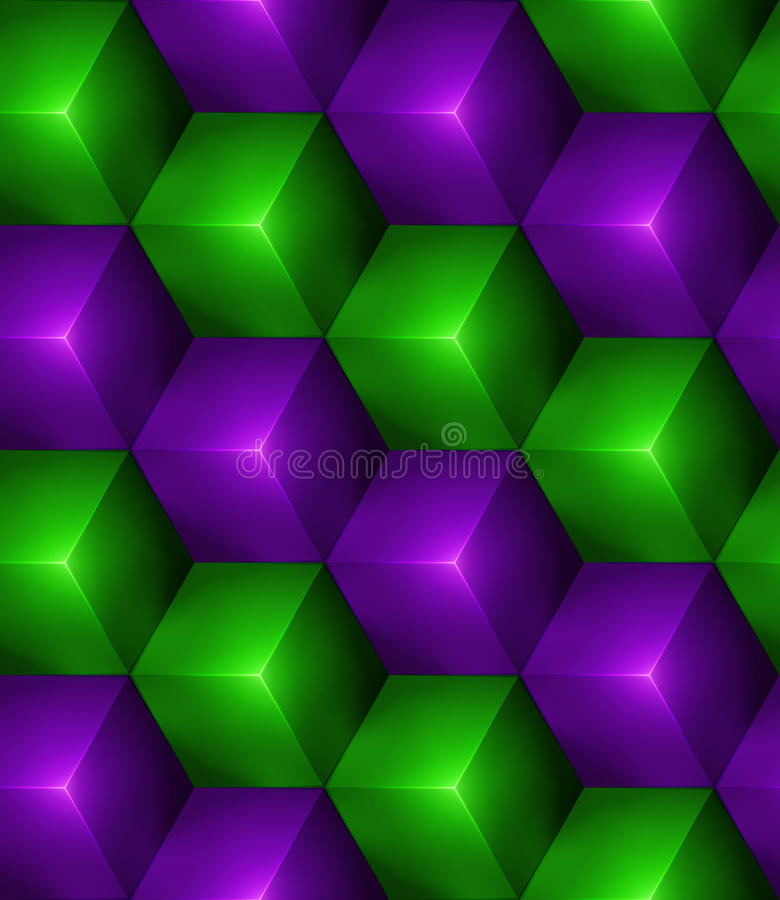 3d Abstract seamless background with cubes stock illustration
