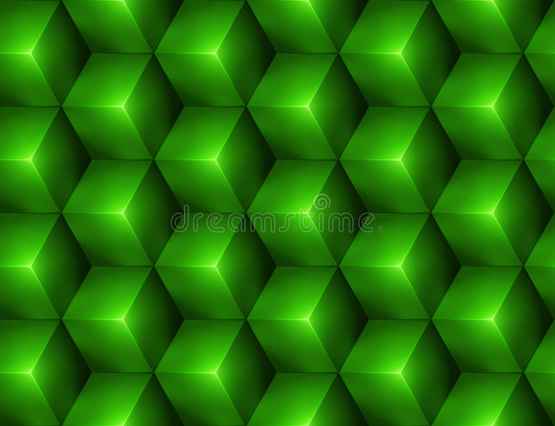 3d Abstract seamless background with green cubes vector illustration
