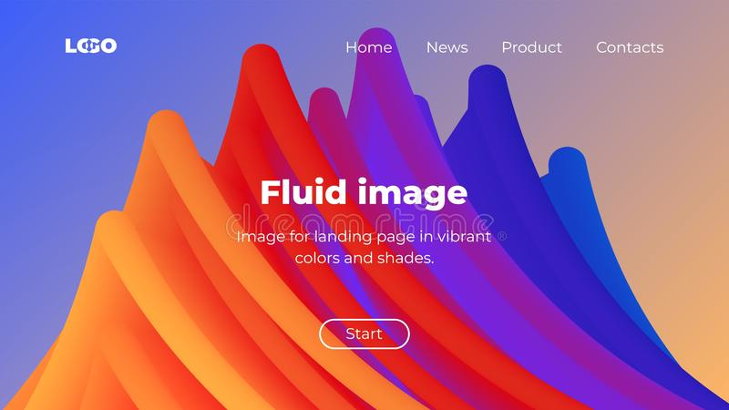 3d abstract vector background, Landing page in orange, purple and blue colors. vector illustration