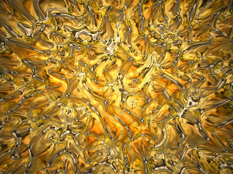 3d abstract wavy amber background stock illustration