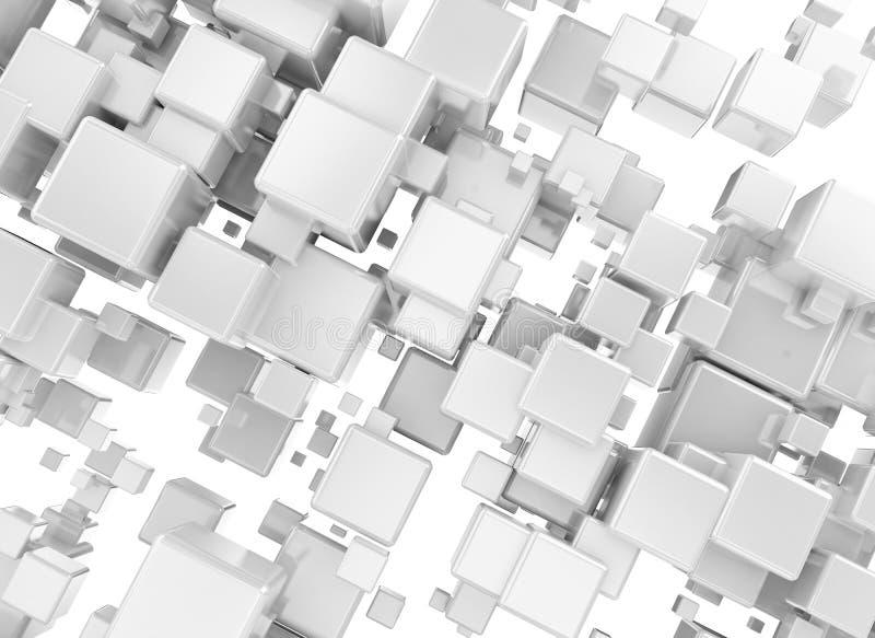 3D Abstracte Achtergrond van Metaalblokken vector illustratie