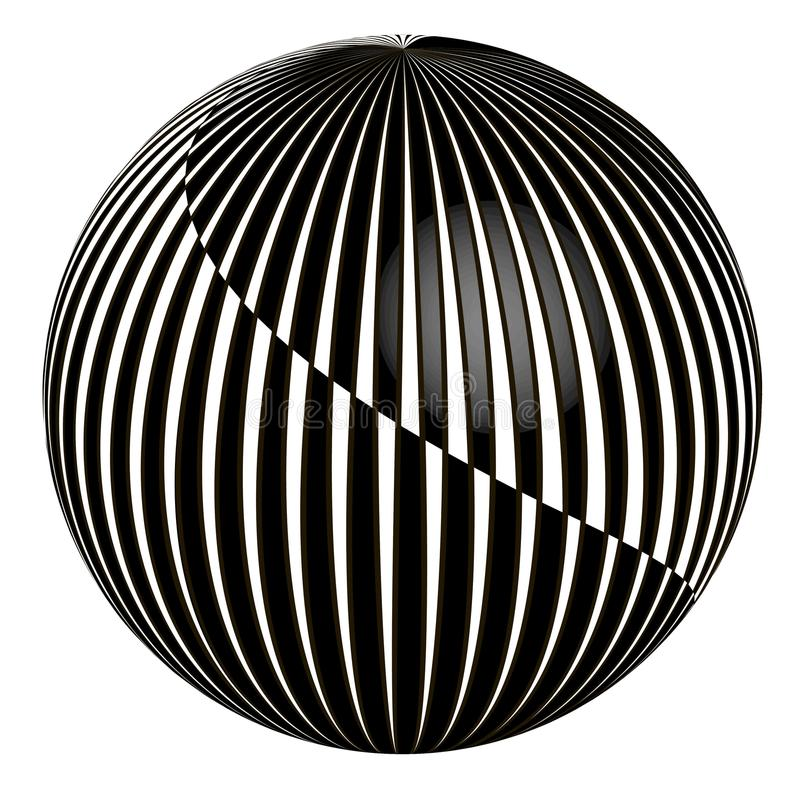 3D abstracte bal vector illustratie