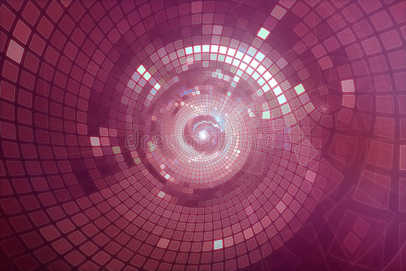 3D abstracte futuristische achtergrond van de partijdisco stock illustratie