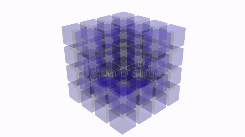 3D abstracte kubus royalty-vrije stock afbeeldingen