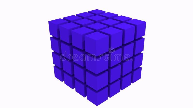 3D abstracte kubus stock foto's