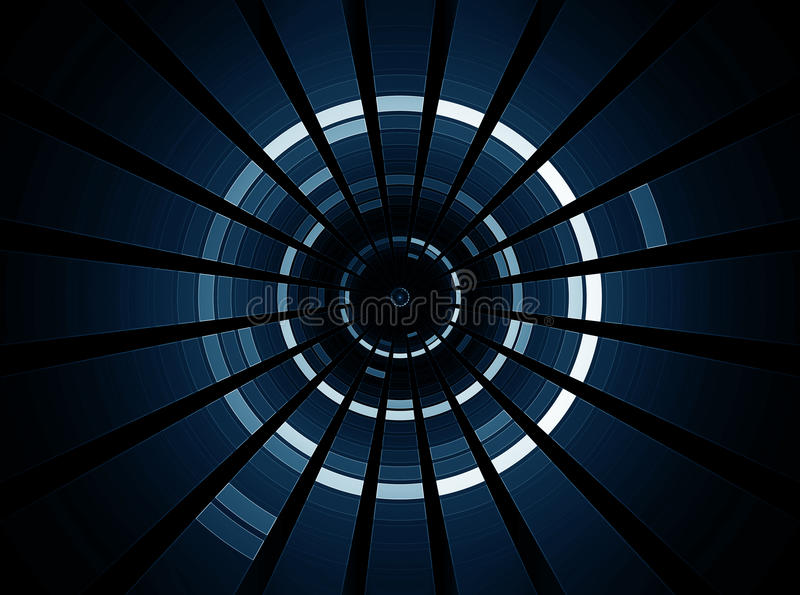 3D abstracte science fiction futuristische achtergrond royalty-vrije illustratie