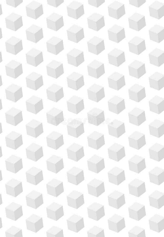3d abstracto cubica el modelo inconsútil El objeto está colgando en espacio Claro y estructura y construcción directa ilustración del vector