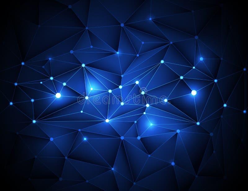 3D abstracto geométrico, poligonal, modelo del triángulo en estructura de la molécula libre illustration