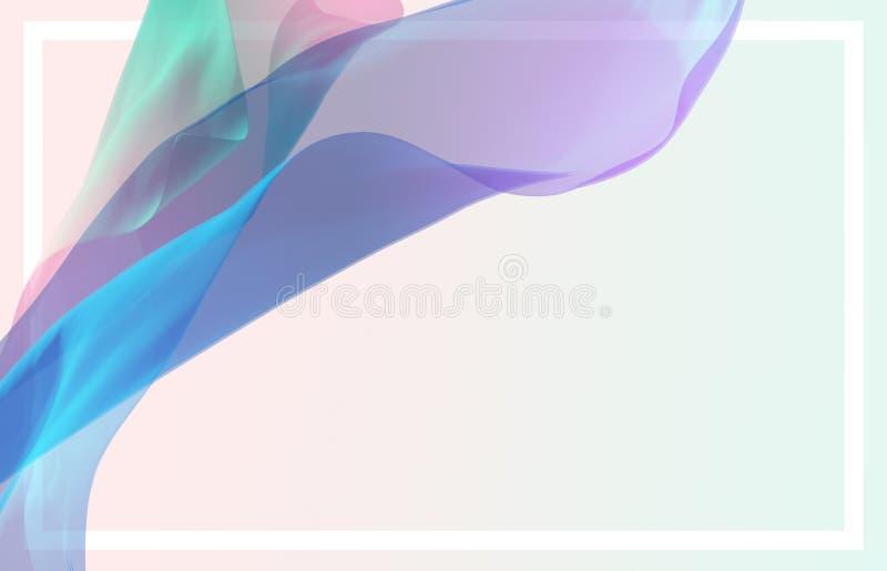 3D abstractos rinden el ejemplo Onda de la tela de seda que vuela, agitando libre illustration