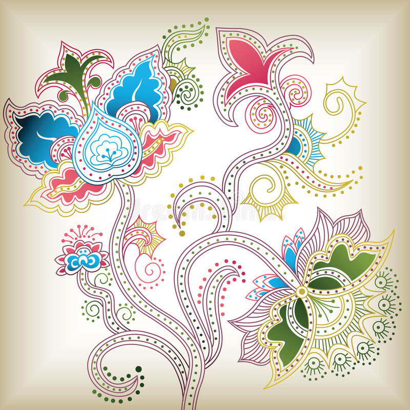 d abstrait floral illustration libre de droits