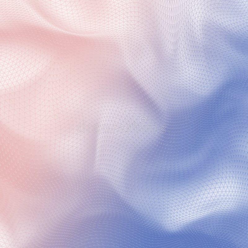 3D abstraits pâlissent le tissu 2016 de filet de gradient de mélange de couleur de Pantone illustration stock