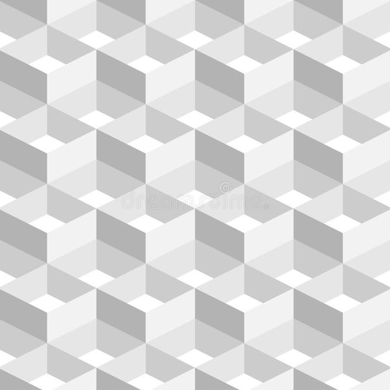 3D Abstrakcjonistycznego Geometrycznego tła Biały kolor w Prostym mieszkanie stylu royalty ilustracja