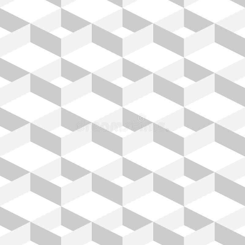 3D Abstrakcjonistycznego Geometrycznego tła Biały kolor w Prostym mieszkanie stylu ilustracja wektor