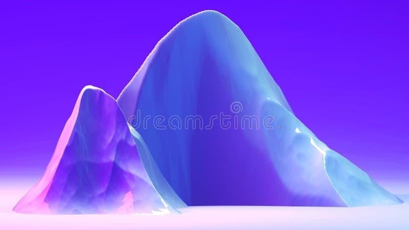 3d abstrakcjonistyczny tło z przestrzenią dla teksta Futurystyczna planeta w purpur, atramentu i błękita kolorach, Jaskrawi modni obraz royalty free