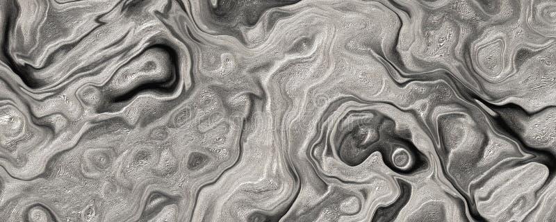 3d achtergrond van BW van de illustratiewaterverf Abstracte royalty-vrije illustratie
