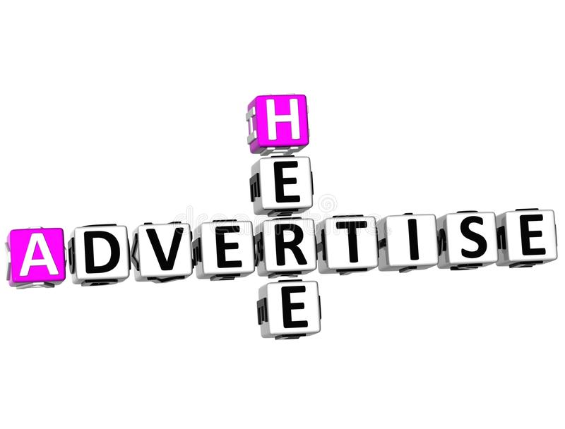 3D Advertise Here Crossword royalty free illustration