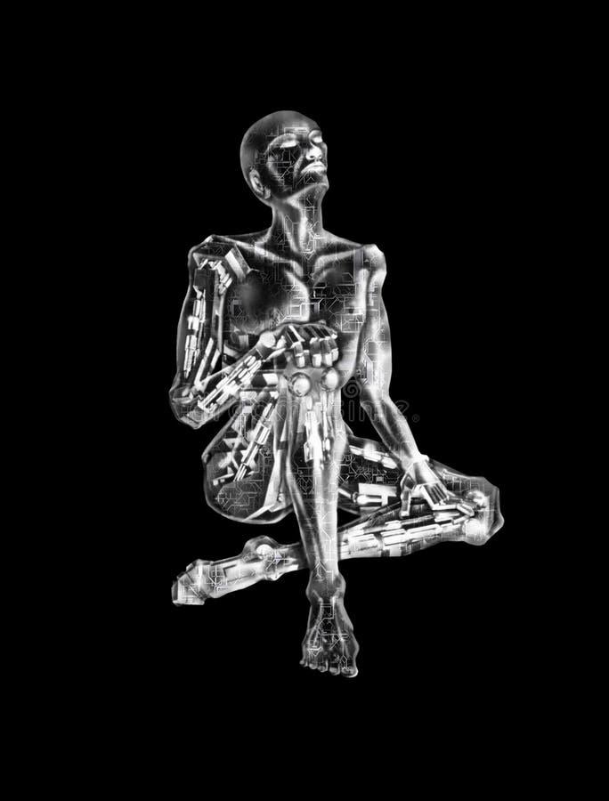 3D AI Marzy robot ilustracji