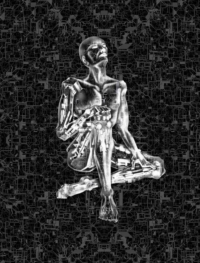 3D AI Marzy robot royalty ilustracja