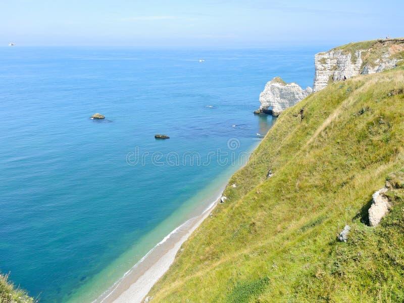 D'albatre de Cote de côte de la Manche images libres de droits
