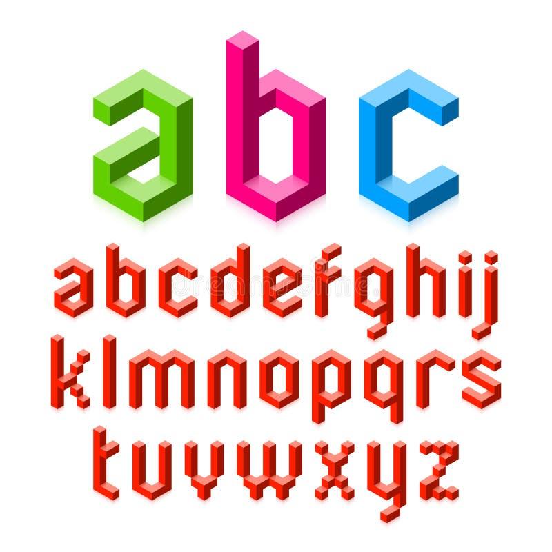 3D alfabetbrieven vector illustratie