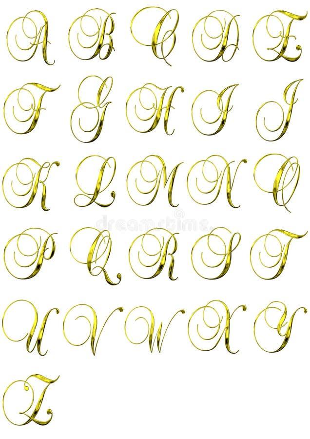 or d'alphabet illustration de vecteur