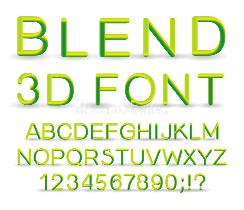 3d Vector font. royalty free illustration