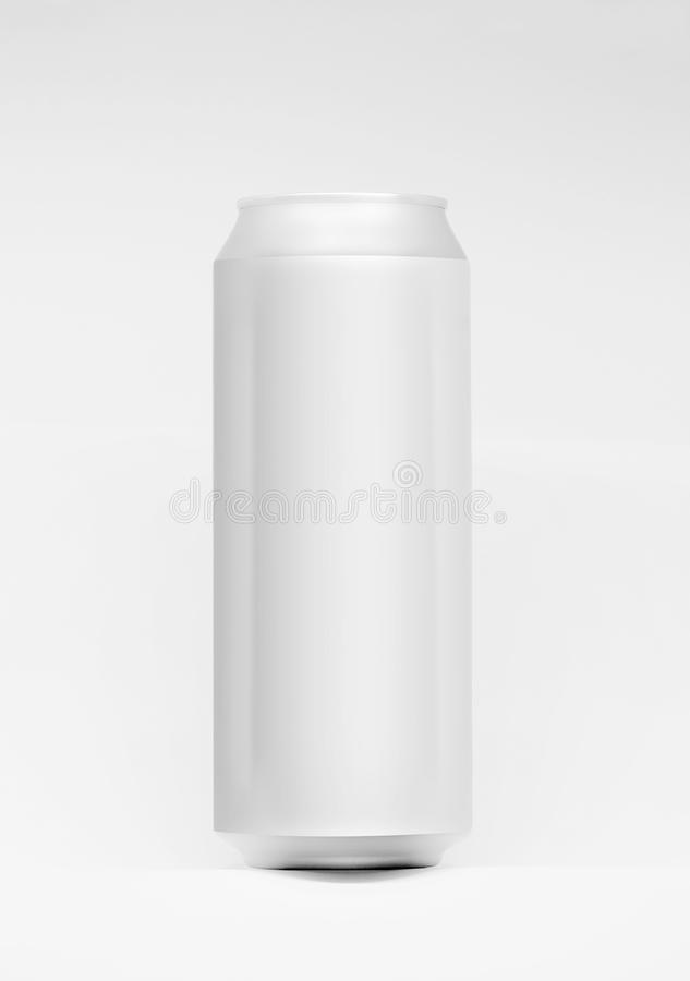 3D aluminiowej puszki egzamin próbny dla w górę 500ml Ideał dla piwa, lager, alkohol, miękcy napoje, soda, fizzy wystrzał, lemoni zdjęcie stock