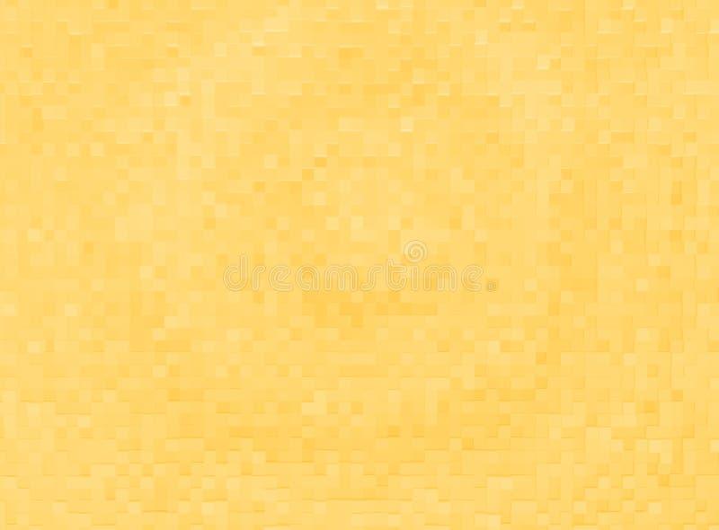 3d amarillo cubica el fondo de la textura de los bloques stock de ilustración