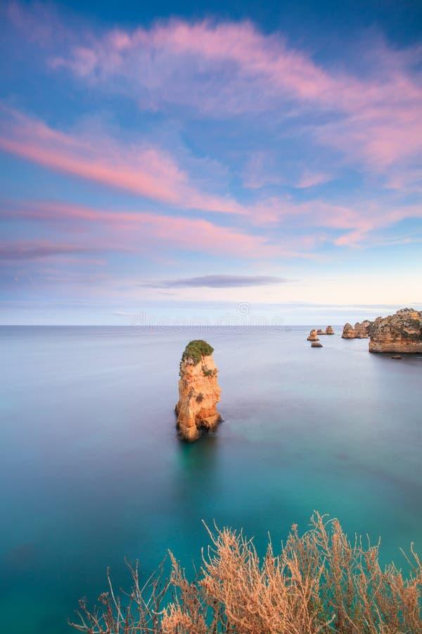 d Ana Beach et Ponta DA Piedade photographie stock libre de droits
