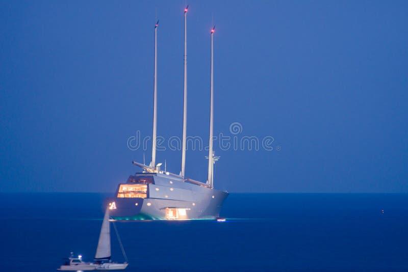` D'Andrey Melnichenko un yacht de `, Italie photo stock