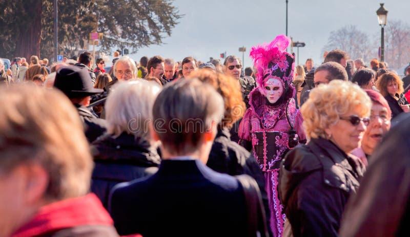 D Annecy 2012 de Venitien do carnaval fotografia de stock royalty free