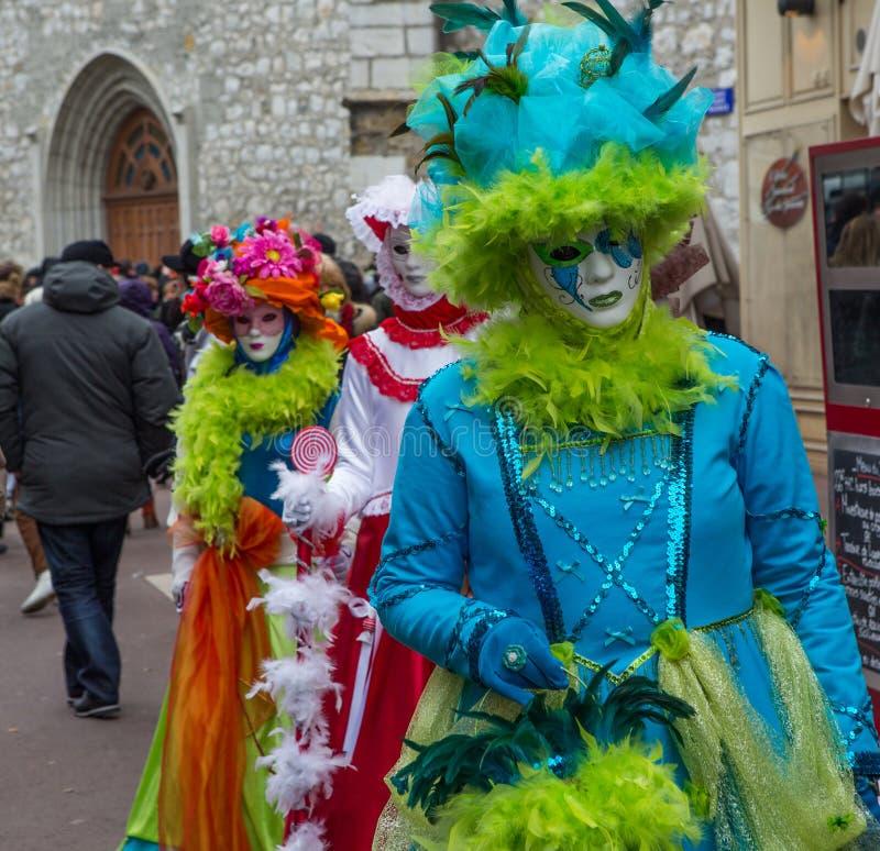 D Annecy 2013 de Venitien do carnaval fotografia de stock