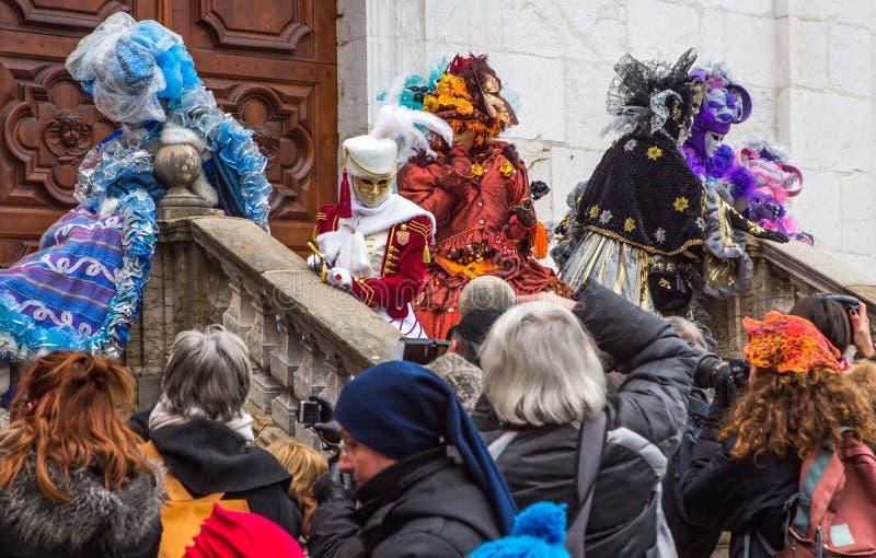 D Annecy 2013 de Venitien do carnaval foto de stock royalty free