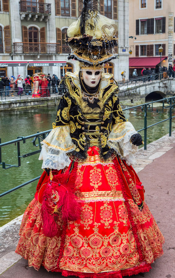 D Annecy 2013 de Venitien do carnaval foto de stock
