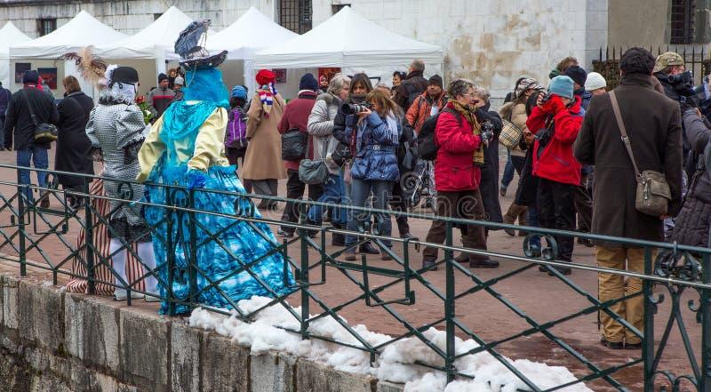 D Annecy 2013 de Venitien do carnaval fotos de stock royalty free