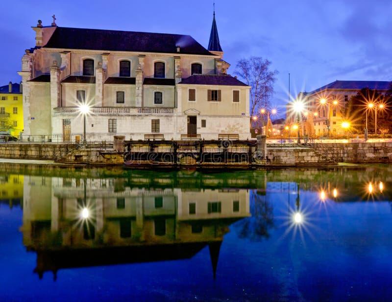 d'Annecy de Cathédrale Saint-Pierre, France imagem de stock