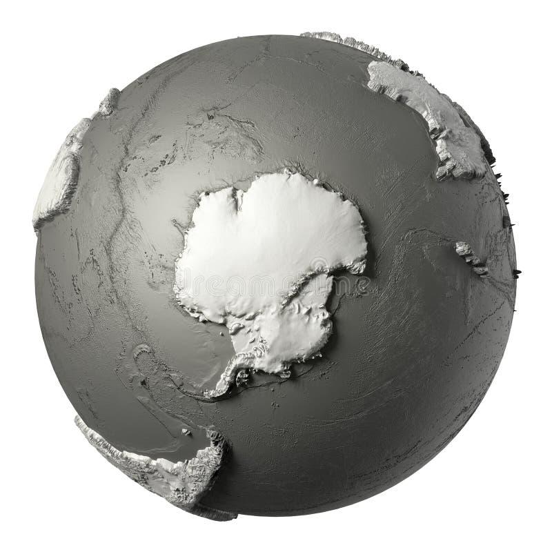 3D Antarctica kula ziemska ilustracji