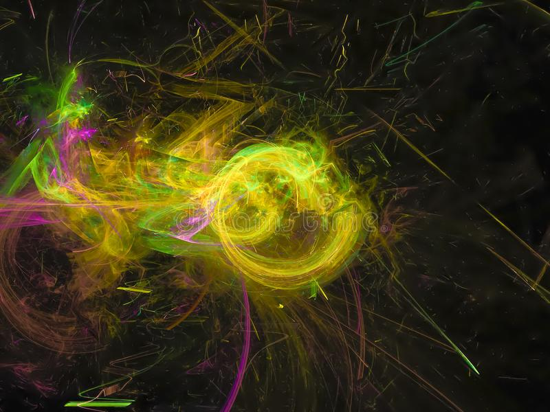 d, anuncio que brilla intensamente artístico del brillo hermoso de la fantasía imagen de archivo libre de regalías