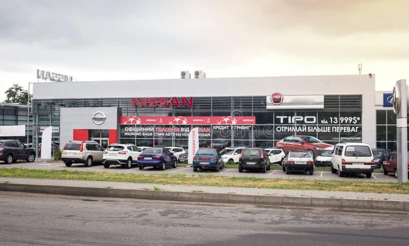 07 d'ao?t 2017 - Vinnitsa, l'Ukraine Salle d'exposition de Nissan photos libres de droits