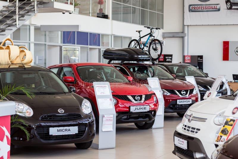 07 d'ao?t 2017 - Vinnitsa, l'Ukraine Salle d'exposition de Nissan photos stock