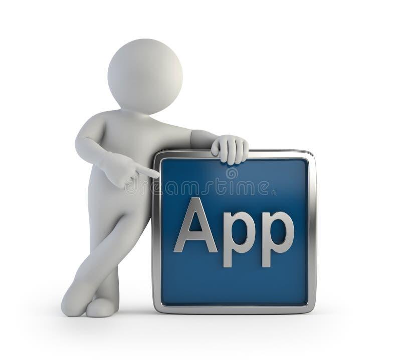 3d app ikony ludzie mali royalty ilustracja