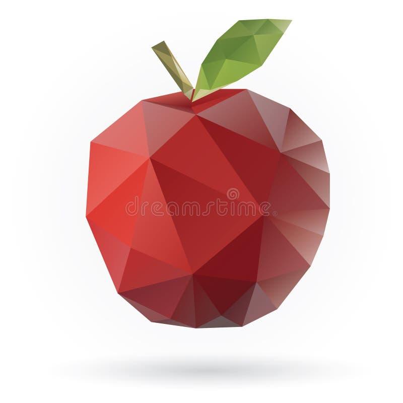 D'Apple poly conception bas illustration stock