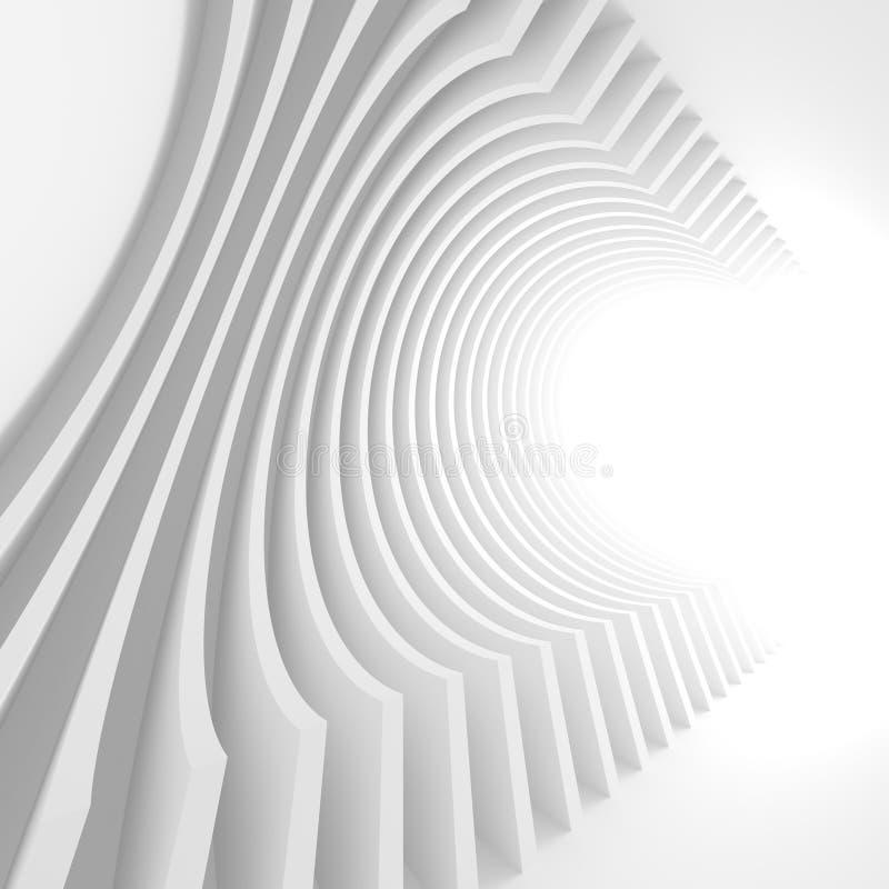 3d Architectuur geeft terug Futuristische Bouwconstructie stock illustratie