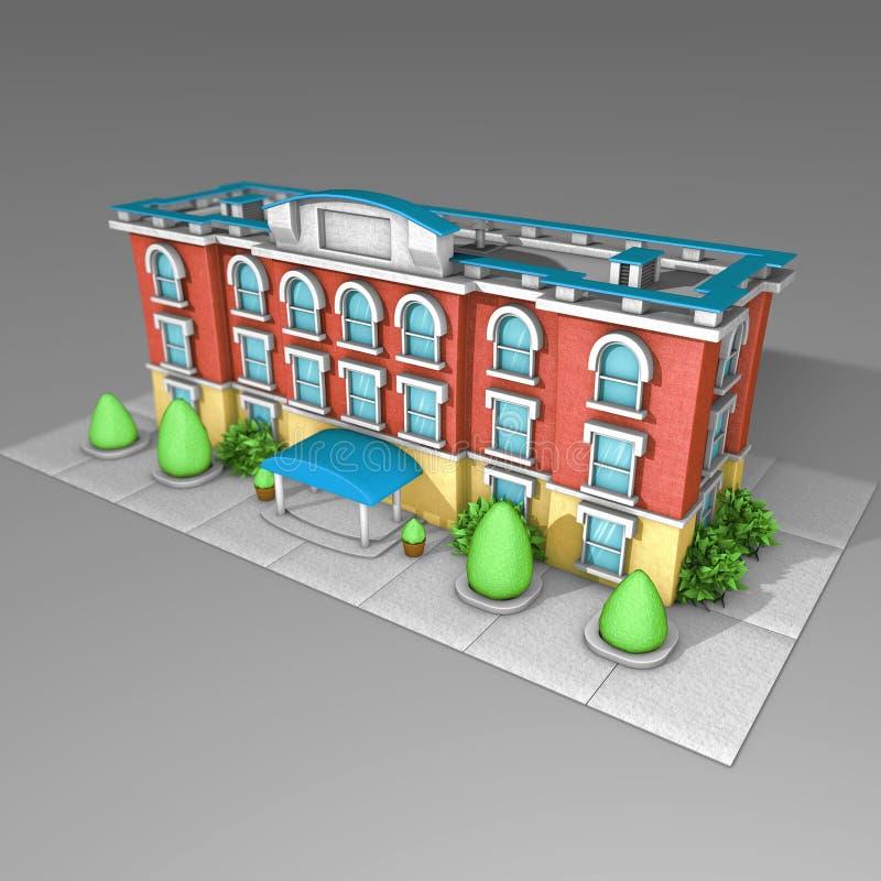 3D architectuur modelhuis royalty-vrije stock afbeelding