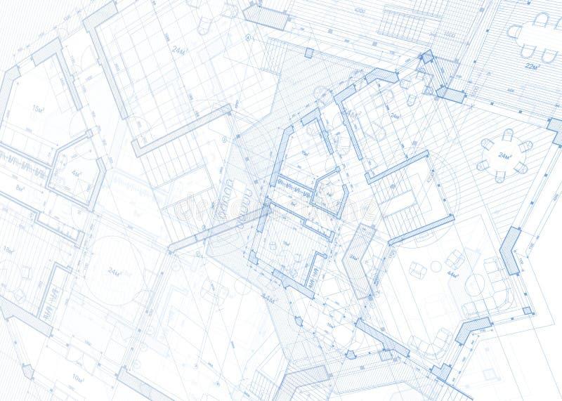 3d architektura projekt odpłaca się biel royalty ilustracja