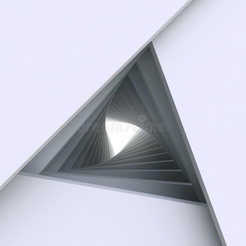 3d architektury abstrakcjonistyczny tło ilustracja wektor